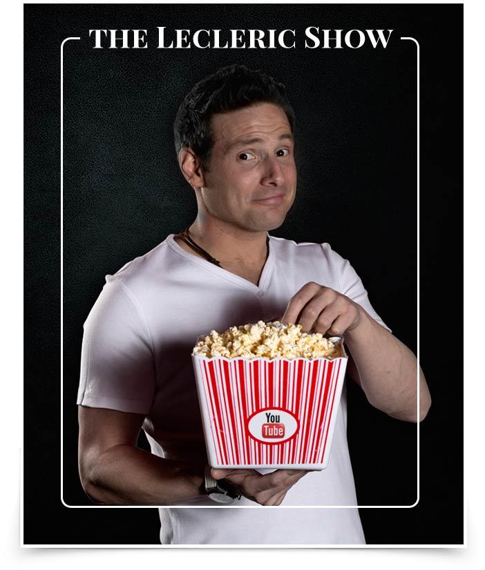 Photo of Eric Leclerc eating popcorn.